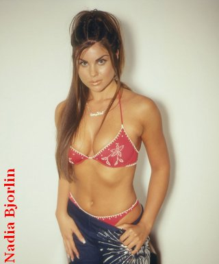 Nadia Bjorlin In A Bikini And A Thong